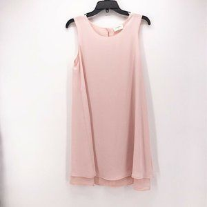 Everly Womens Shift Dress Pink Mini Scoop Neck M